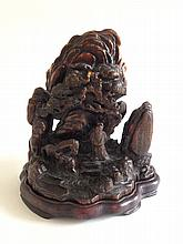 A Carved Chen Xiang Wood Mountain 19th Century