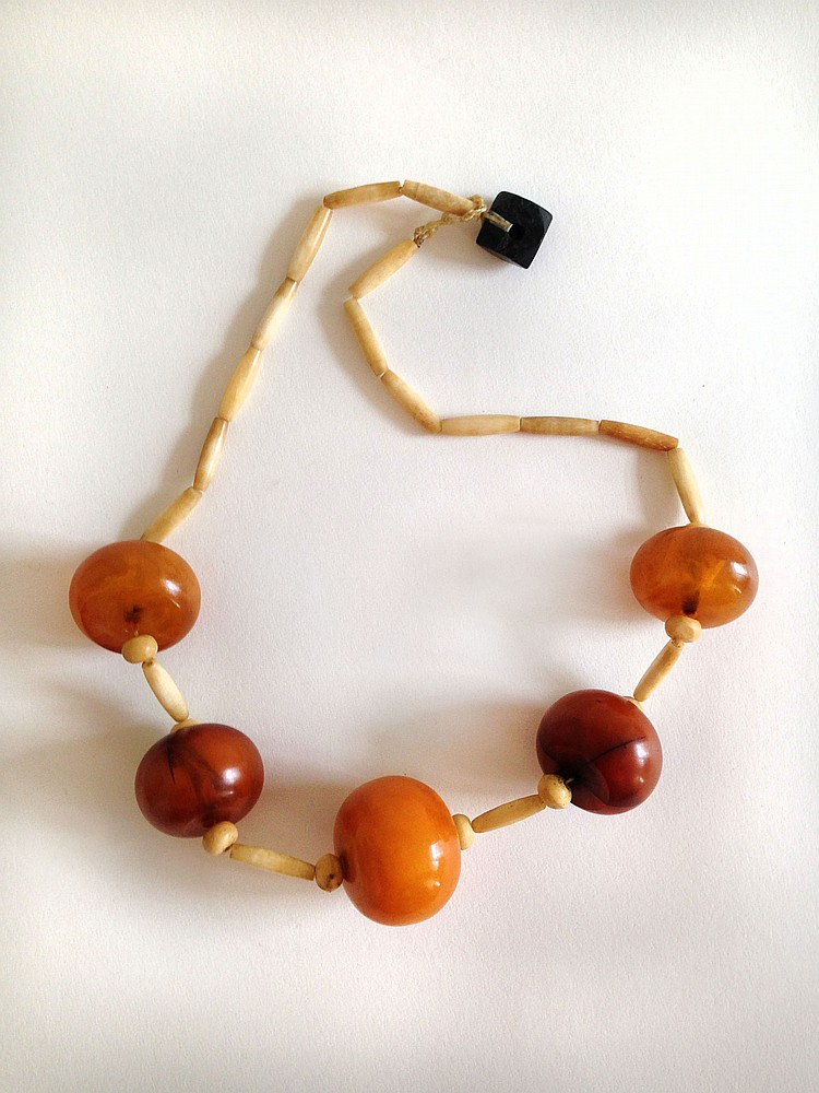 A Chinese Amber Bead Bracelet 19th Century
