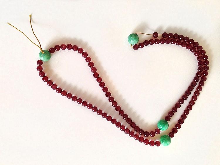 A Tourmaline Beads Chao Zhu 20th Century