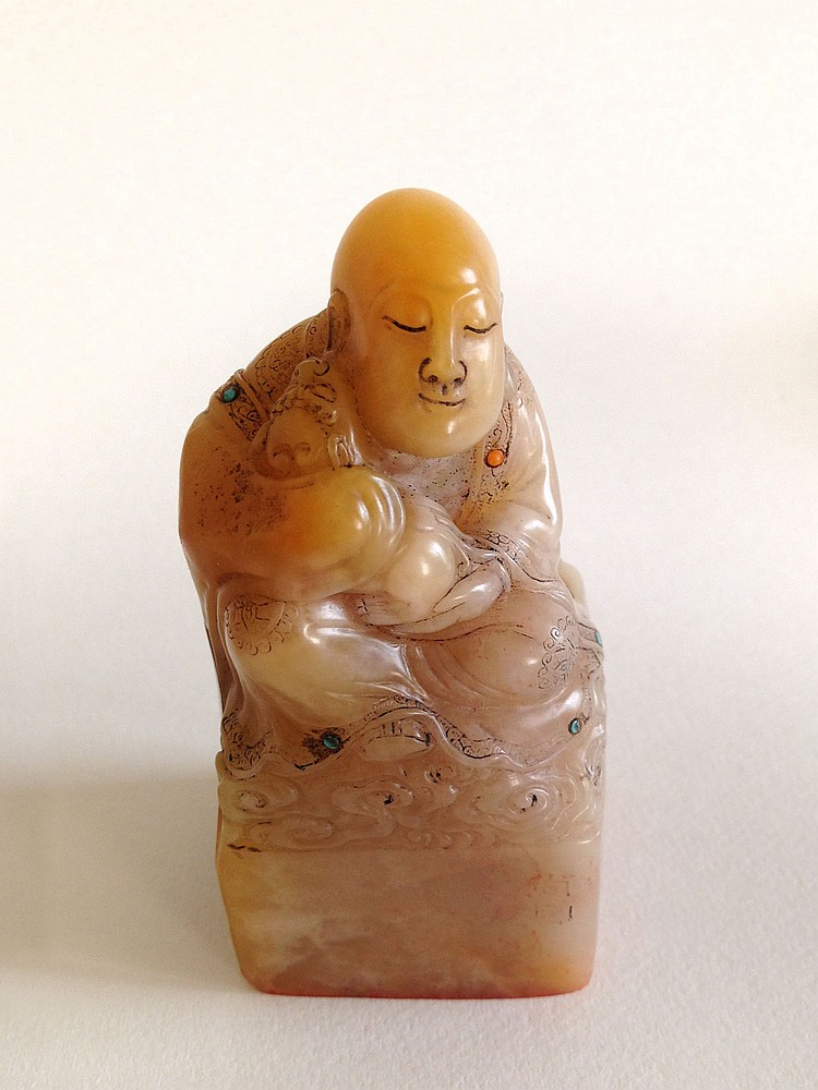 A Soap Stone Luohan Seal 19th Century