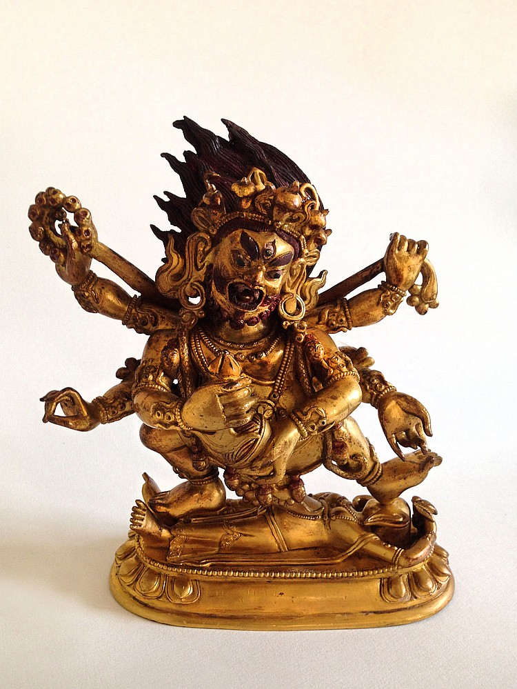A Tibetan Gilt-Bronze Figure 19th Century