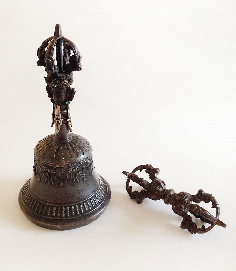 A Set of Tibetan Bells 17th Century