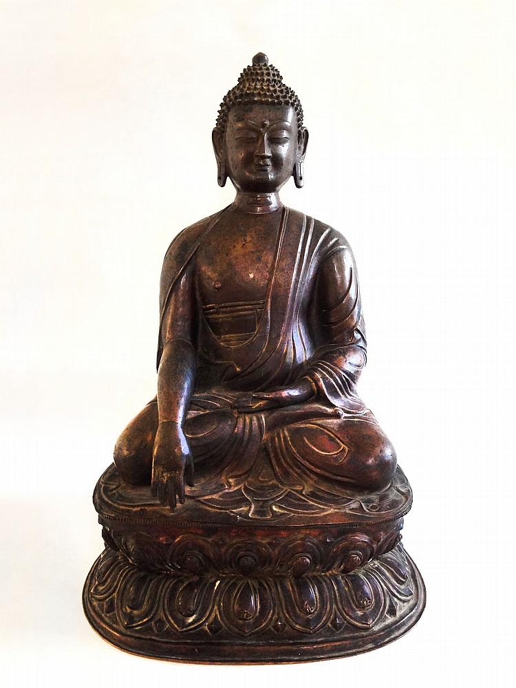 A Bronze Figure of Sayamuni Qing Dynasty