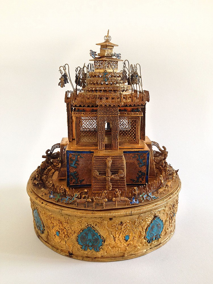 A Gilt Mandala Temple Ming Dynasty