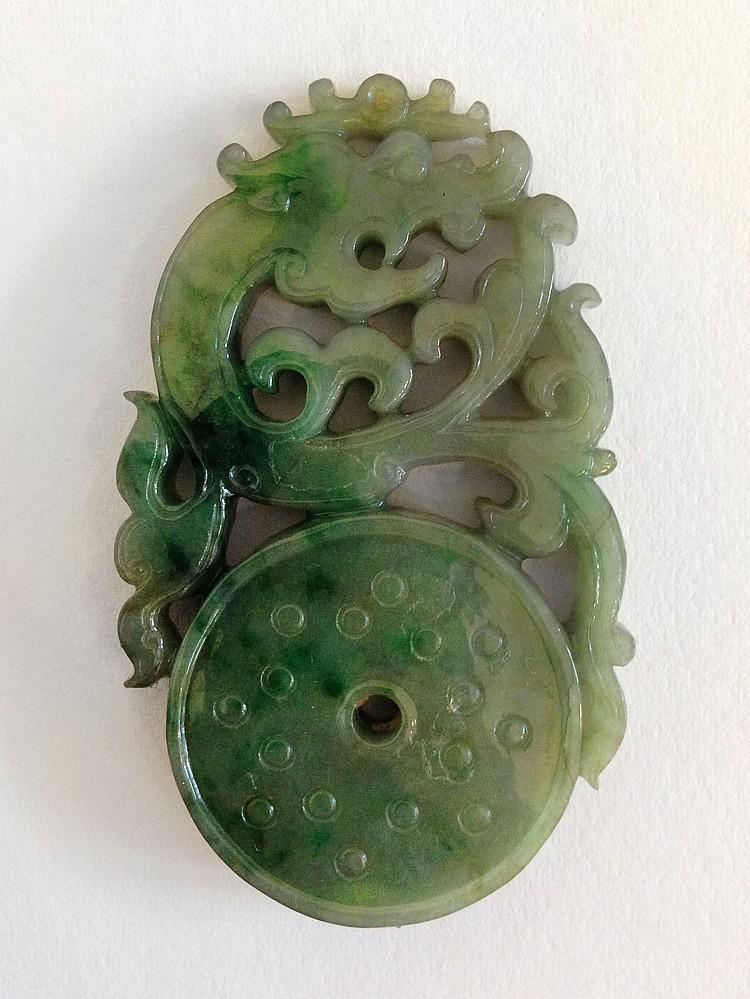 A Chinese Jadeite Pendant 19th Century