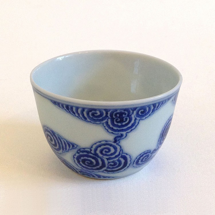 A Blue and White Cup Qing Dynasty