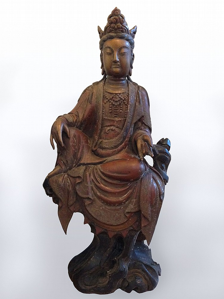 A Large Lacquered Figure of Buddha Late Ming/Early Qing Dynasty, 17th Century