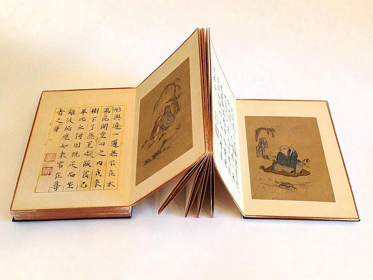 An Album of the Silk Bodai Qing Dynasty