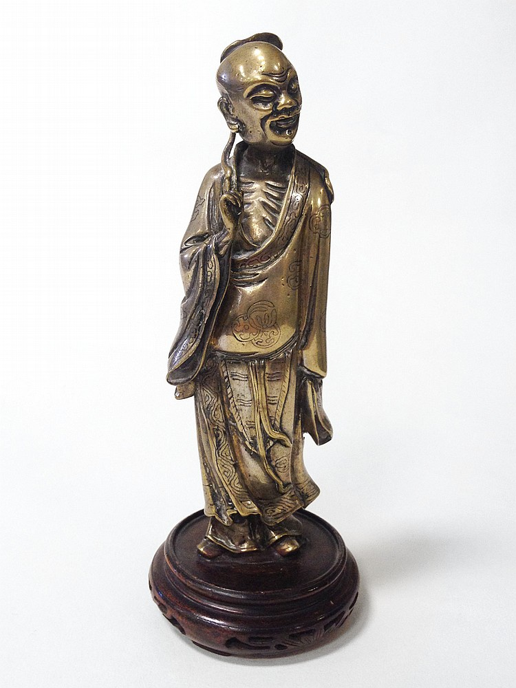 Chinese Figure on Wooden base