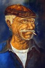 """Berthold Moyo - Oil - """"Old Man Time"""""""