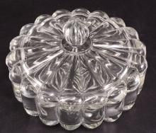 Heisey Crystolite Round Covered Candy Dish