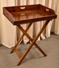 Antique Large Butler's Tray & Stand