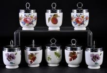 8 Porcelain Royal Worcester Egg Coddler Cups