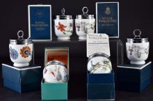 6 Porcelain Royal Worcester Egg Coddler Cups