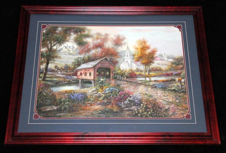 Carl Valente Framed Razzberry Creek Print