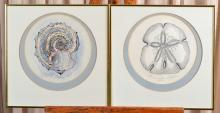 Two George Caso Watercolor Prints