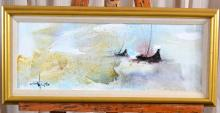 Decorative Two Ships Painting