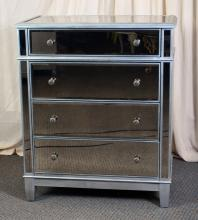 Mirrored 4-Drawer Chest