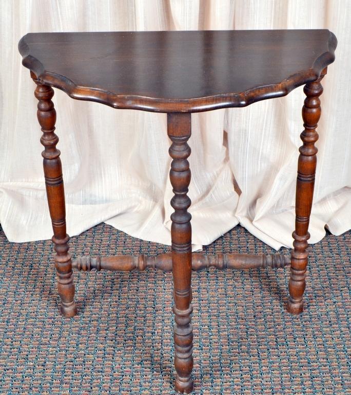 Vintage Demi-Lune Table
