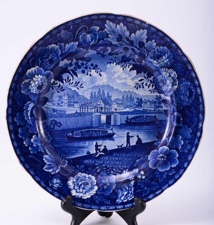 Blue Historical Plate