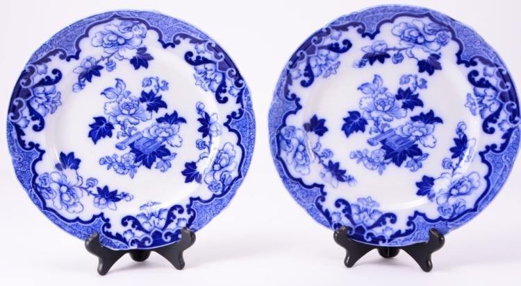 Pair Flow Blue Plates