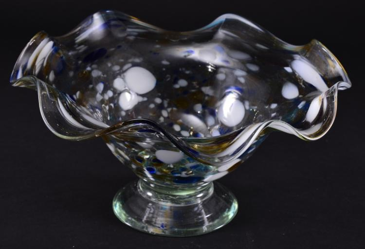 Flaring Footed Blown Glass Bowl