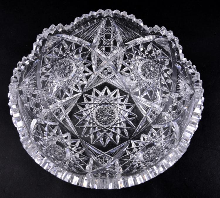 Cut Glass Round Bowl
