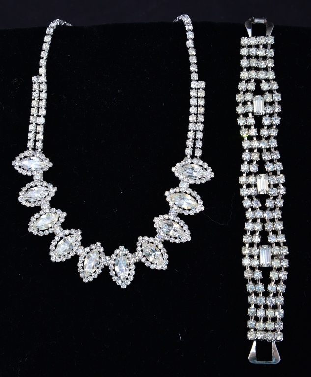 Rhinestone Necklace and Bracelet