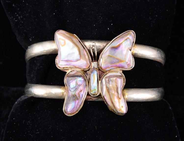 Abalone Butterfly Cuff