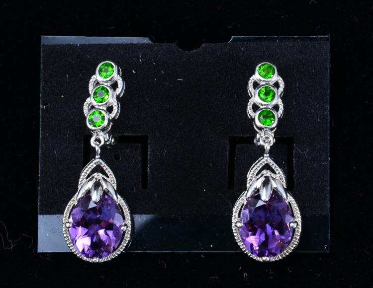 Sterling Amethyst Plus Earrings