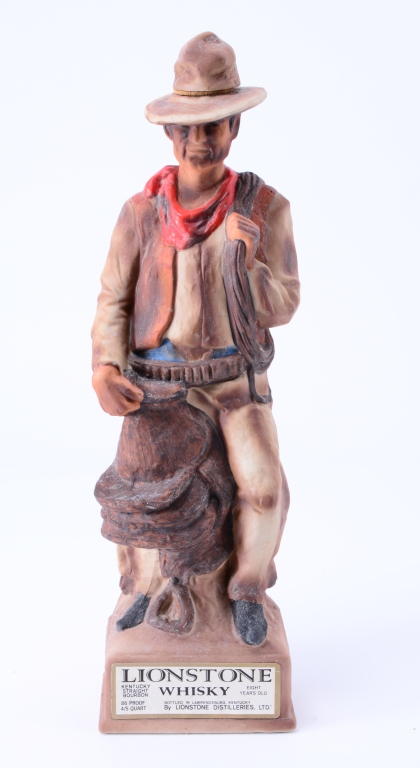 The Cowboy Lionstone Whiskey Decanter