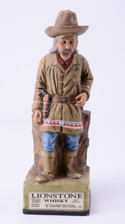 Squaw Man Lionstone Whiskey Decanter