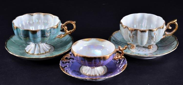 Japanese Lusterware Cups & Saucers