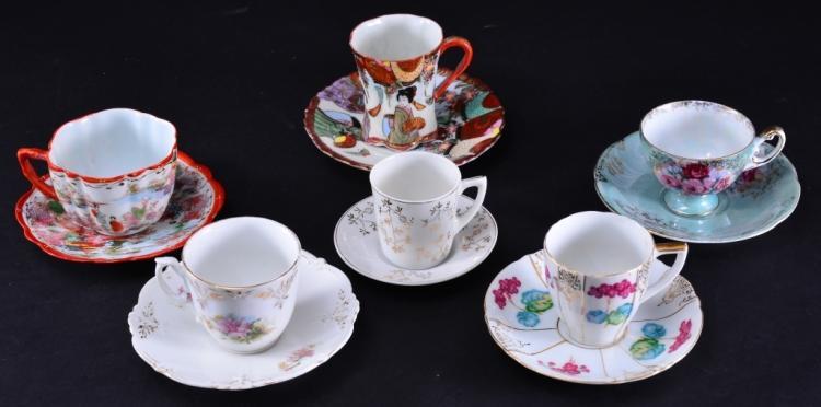 6 Demi-tasse Cups & Saucers