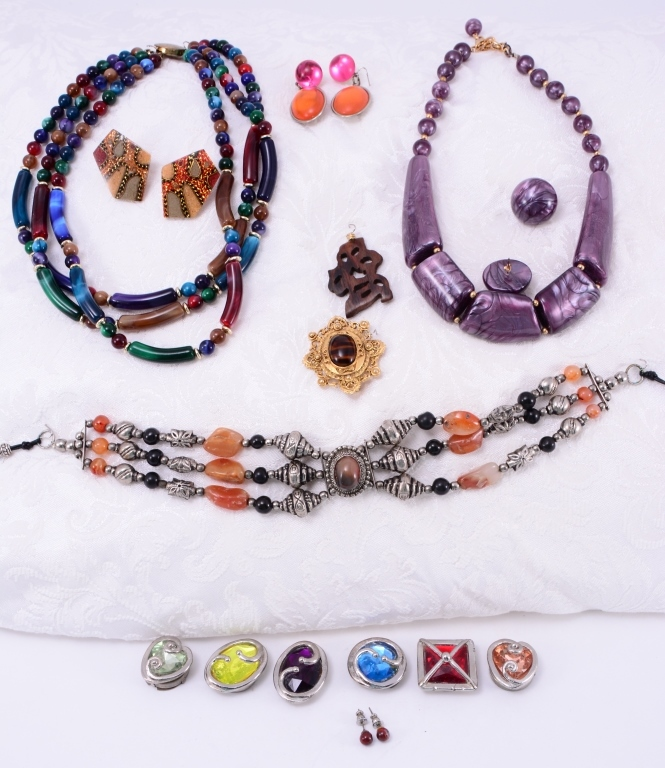 Colorful Estate Costume Jewelry