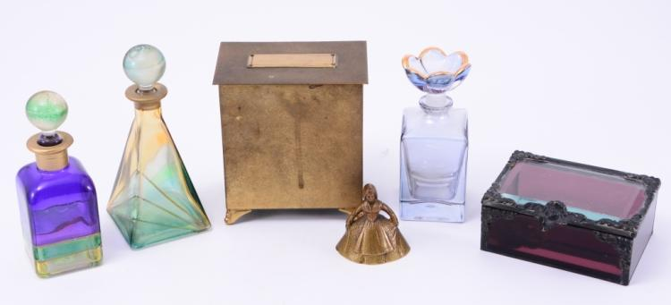 Italian Perfume Bottles, Thorens Music Box Plus