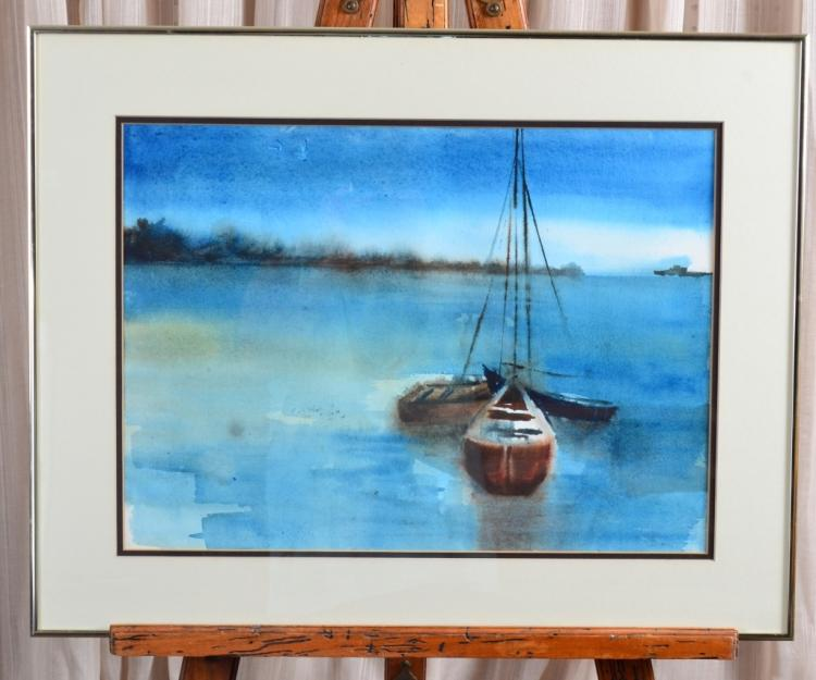 Watercolor Sailboats
