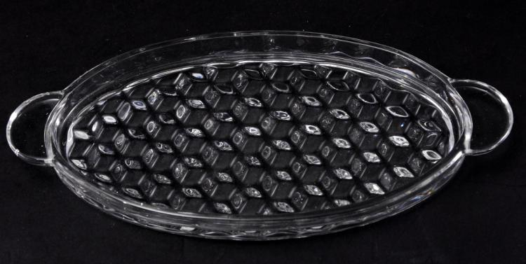 Fostoria American Handled Oval Tray