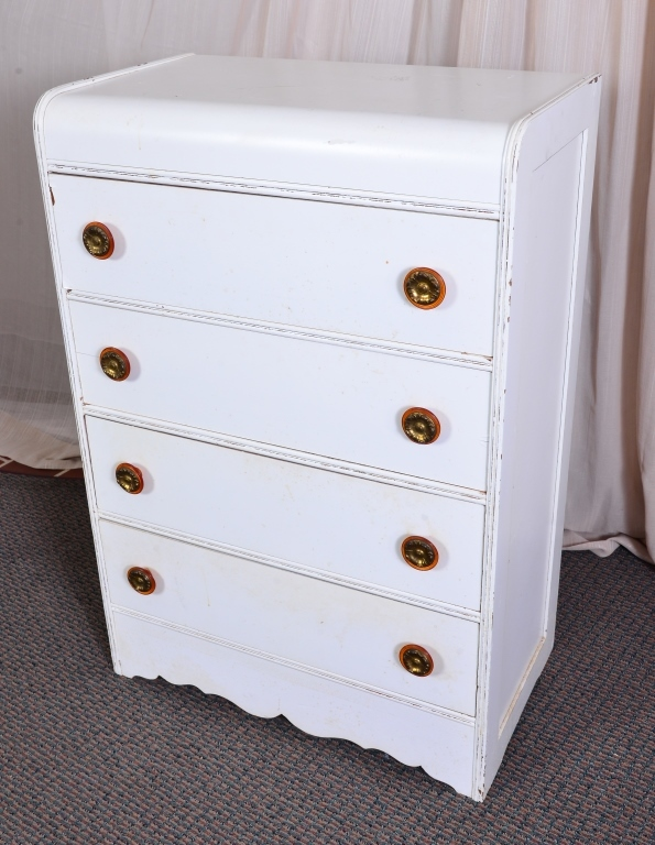 Painted Art Deco 4-Drawer Chest