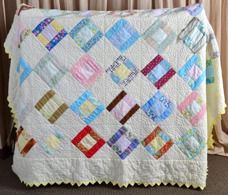 Log Cabin Patchwork Quilt