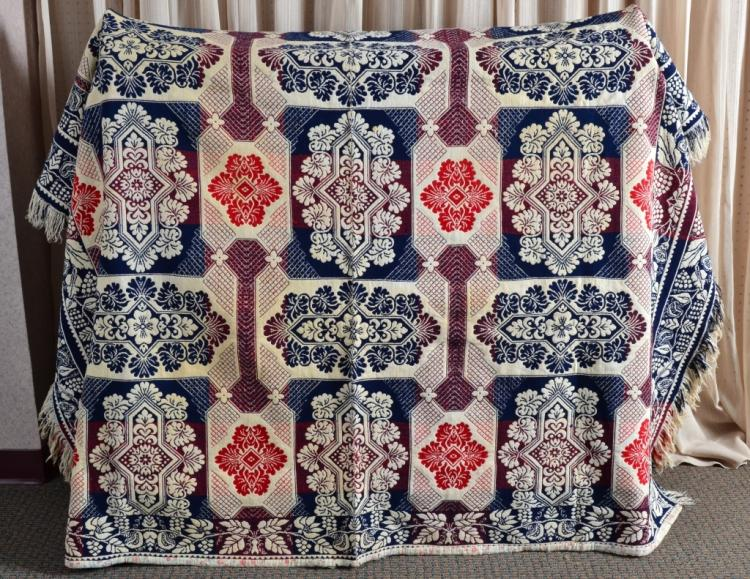 Vintage Jacquard Woven Throw