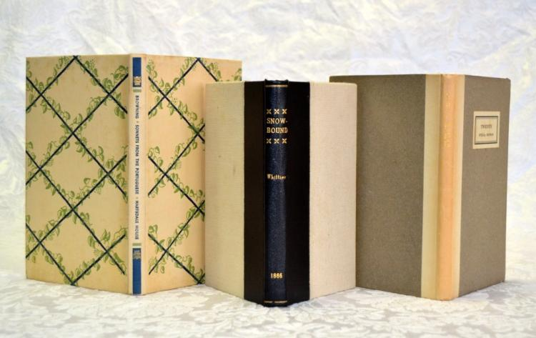 Poetry Books by Whittier, Browning and Benson