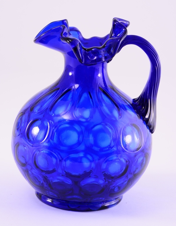 Vintage Cobalt Blue Ball Pitcher
