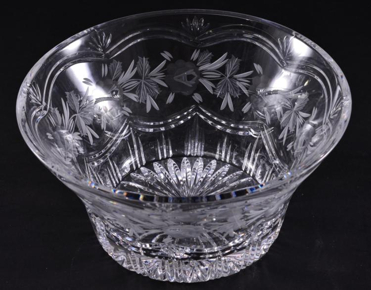Flaring Cut & Etched Bowl