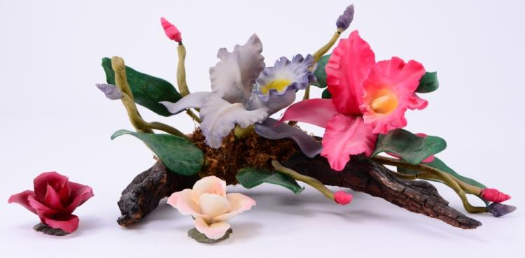 Ceramic Flowers on Driftwood Plus