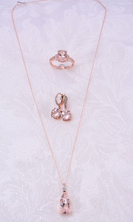 10K Morganite & Diamond Jewelry