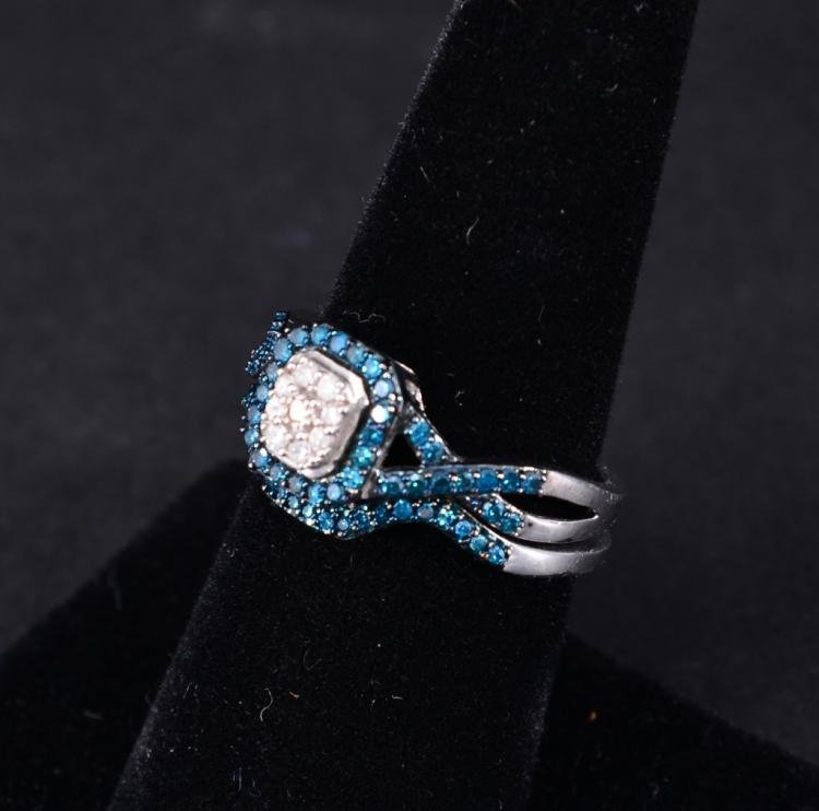 Sterling & Diamond Ring and Guard