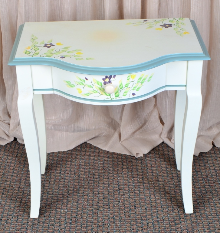 Small Painted Desk/Vanity w/Drawer
