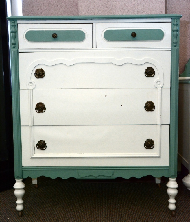 1930s Painted 5-Drawer Chest