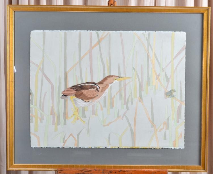 Bird After Frog Watercolor